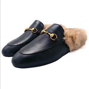 Shoes - Black Princetown Slides